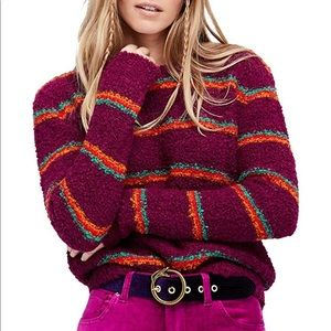 Free People Striped Sweater Size XS